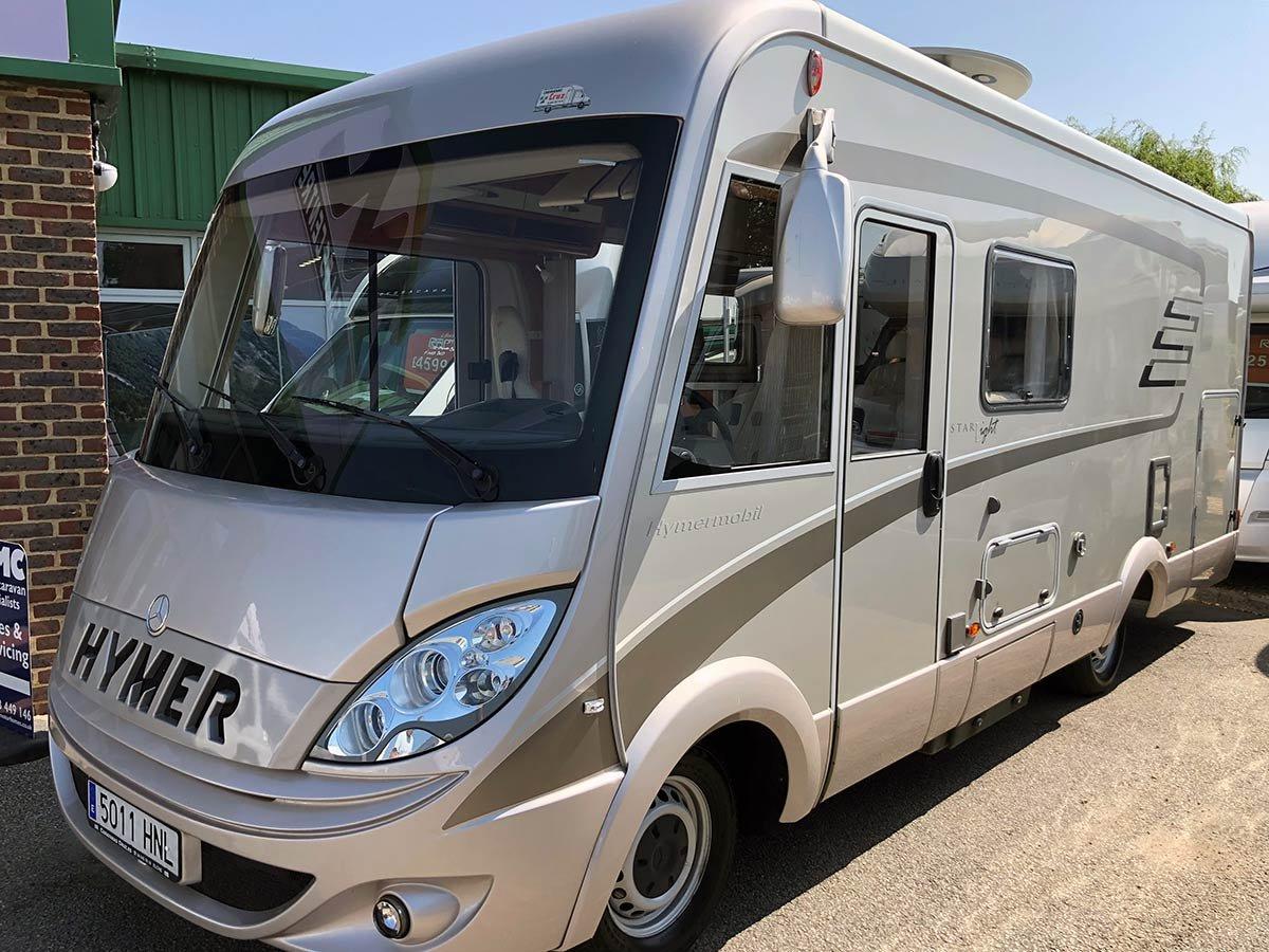 Used Hymer B595 Luxury Motorhome Spain
